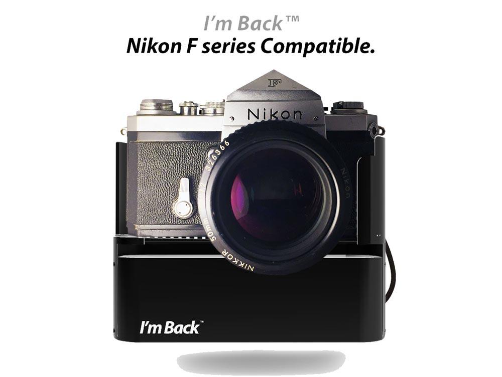 Photo d'un Nikon avec un dos I'm Back.